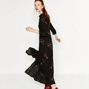 Zara Maxi Shirt Dress